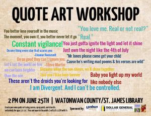 YA Programming Behind the Scenes: Quote Art | YALSAblog