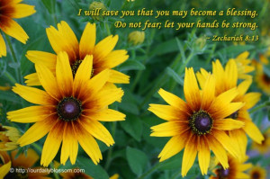 will save you that you may become a blessing. Do not fear; let your ...