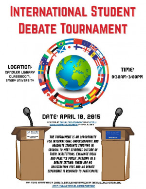 Spring 2015 Intercollegiate International Student Debate Tournament