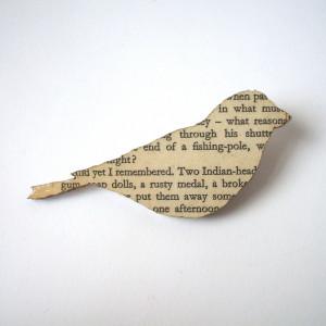 ... of Harper Lee - 'To Kill a Mockingbird' original book page brooch