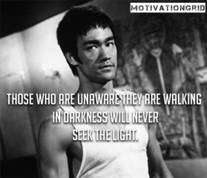 Those who are unaware they are walking in darkness will never seek ...