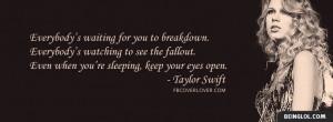 Eyes Open by Taylor Swift Lyrics Facebook Timeline Cover