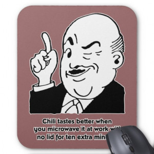 Cooking Chili - Funny Recipe Humor Quote Mousepads