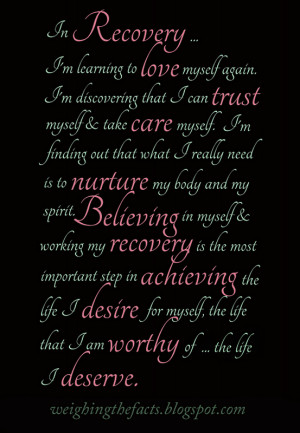 Eating Disorders Recovery: In Recovery ...