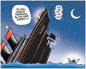 Funny Cartoon Titanic Sinking
