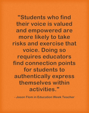 Response: Great Teachers Focus on Connections & Relationships