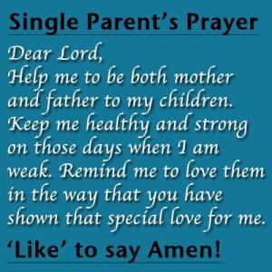 Single parents prayer