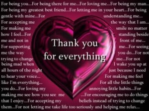 Thank You For Everything - Thank You Quotes