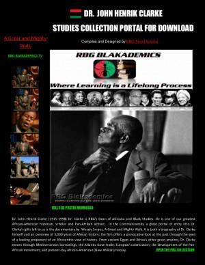 RBG Dr. John Henrik Clarke Studies Collection Portal for Download