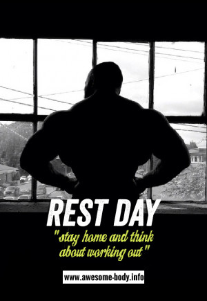 Rest Day Meaning | Stay home and think about working out