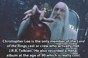 Christopher Lee as Saruman in Lord of the Rings