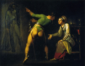 Hamlet Shows His Mother the Ghost of His Father.