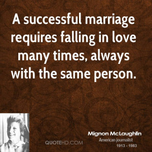 Mignon Mclaughlin Marriage