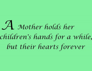 Mother Holds Her Children's Hands Wall Decal