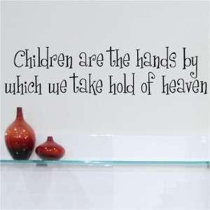 Children Heaven Wall Art Quotes Vinyl Lettering Quote