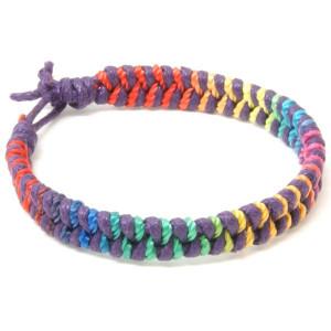 Purple Rainbow Friendship Bracelet