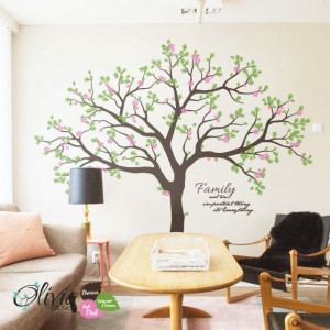 Large Forest Family Blossom Tree vinyl wall by theOliviaDesign, $138 ...
