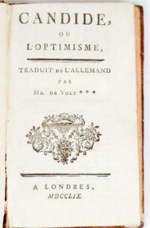 VOLTAIRE - Candide, ou L'optimisme. Traduit de l'allemand p