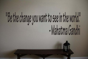 Mahatma Gandhi Inspirational Classroom Quote Vinyl Wall Sticker Decal ...