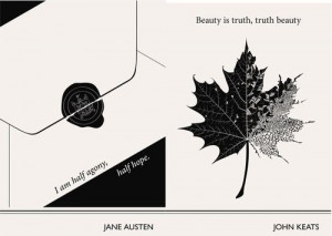 Lovely Literary Art Prints featuring quotes By Famous Authors...