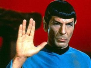 Leonard Nimoy as Spock on