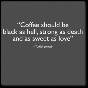 ... wall quotes decals » wall quote decal - coffee: black, strong, sweet