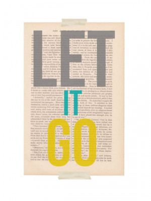 motivational print dictionary art let it go by exlibrisjournals