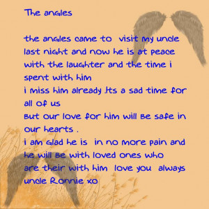uncle+in+heaven+poem | Rip Uncle Poems