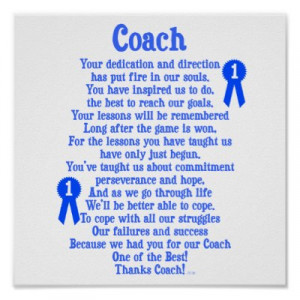any of these poems, sample notes, or use these famous coach quotes ...