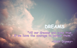 Motivational Quote On Dreams By Walt Disney