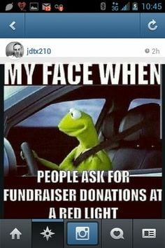 Spot on, instagram, instafunny, kermit, fundraising, donations, funny