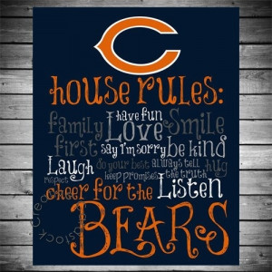 Chicago Bears house rules, have to make this in the future