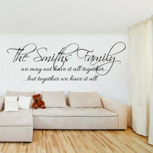 home wall quotes family friends quotes family name wall art quote wall ...