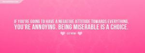 Liz Vega Negative Attitude Quote Facebook Cover
