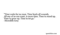 Meredith Grey let go move on More