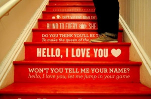hello i love you, lyrics, quote, red, stairs, the doors
