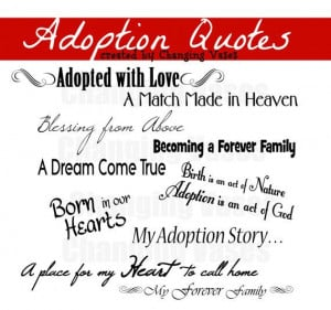 Adoption Word Art Collection Quotes Words Phrases by ChangingVases, $1 ...