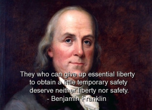 Benjamin franklin, best, quotes, sayings, safety, liberty