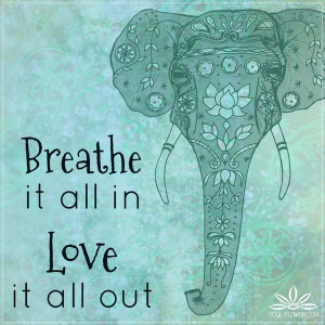 ... Elephant Psychedelic Art Quotes ~ Breathe it all in. Love it all out