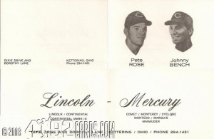 1971 Pete Rose and Johnny Bench Lincoln Mercury - Quote Card.jpg
