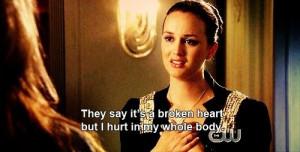 Gossip girl quotes and sayings blair waldorf broken heart