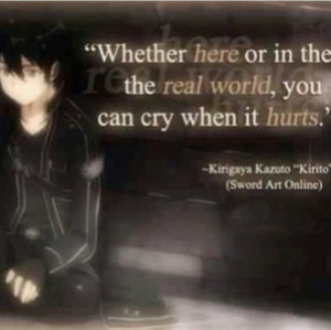 Go Back > Gallery For > Sword Art Online Kirito Quotes