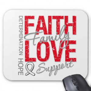 Cancer Inspiring Slogan Collage Lung Cancer Mousepad