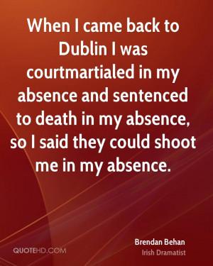 Brendan Behan Death Quotes