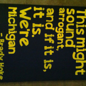 Michigan College Football 16 in x 20in canvas quote More