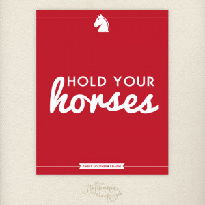 Southern Sayings: 8 x 10 Hold Your Horses Print – Sweet Southern ...