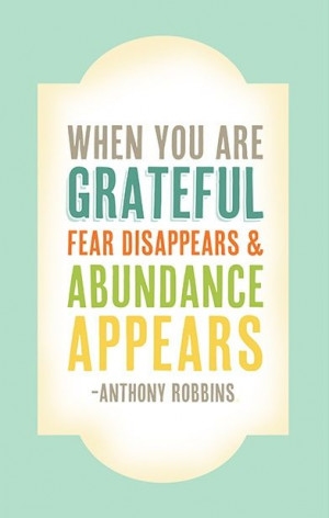 Gratitude Quote by Anthony Robbins