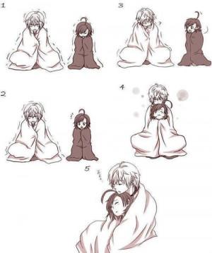 anime # cute anime # kawaii # cute # love # boy and girl # anime ...