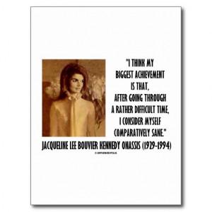 Jackie Kennedy Portrait Comparatively Sane Quote Postcard