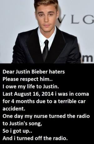 Justin Bieber has a healing power